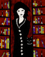 Librarian and her Cat by AllieHartley