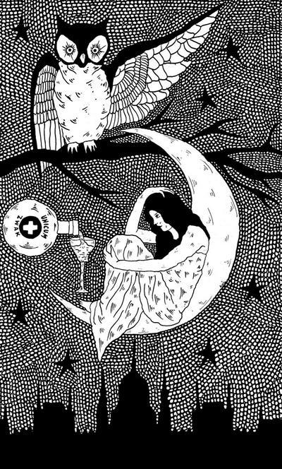 Thirsty Owl by AllieHartley