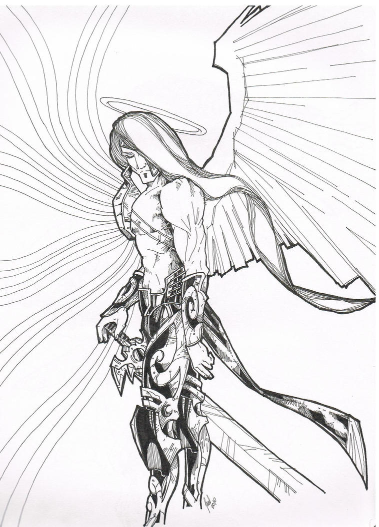 How to draw archangel michael for St michael coloring page