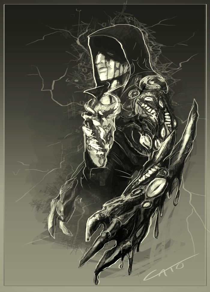 Phantom - Demon Arm Sketch by Penumbra-Ex