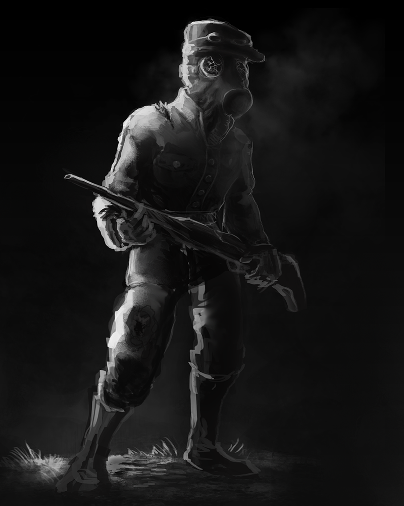 Beyond the Pale - Trench Rattler (Grey Scale) by Penumbra-Ex