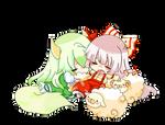 Mokou and Ex Keine Vector