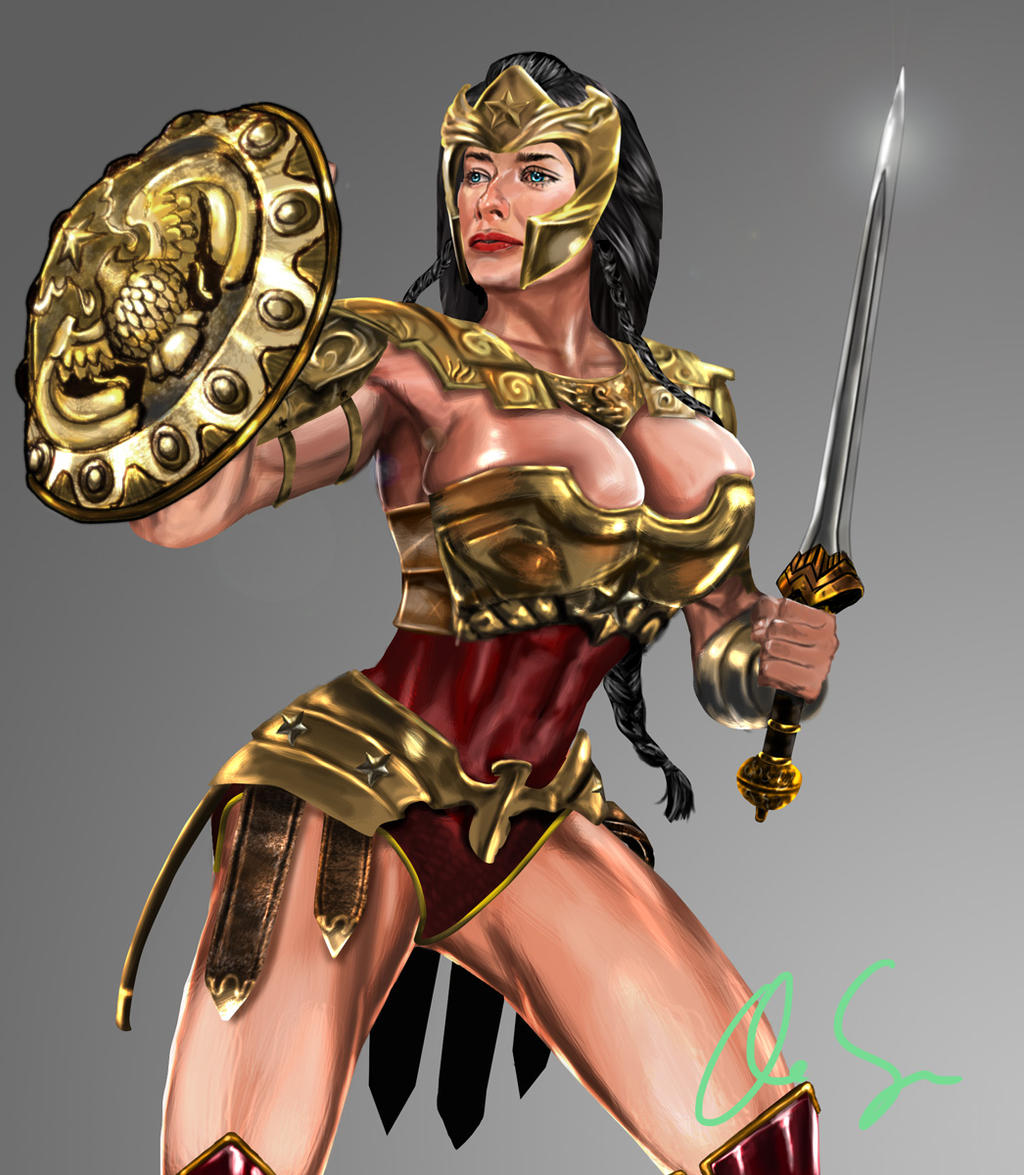 Injustice Wonder Woman Alternate Costume by osx-mkx