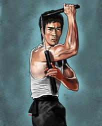 Bruce Lee Nunchucks 2 by osx-mkx