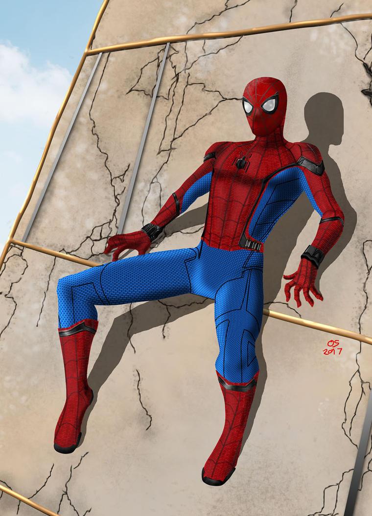 Spider-man Washington Monument by osx-mkx
