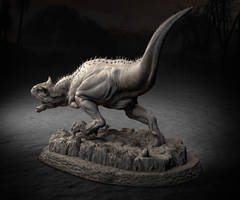 Rampaging Carnotaurus for 3D Print by konginchains