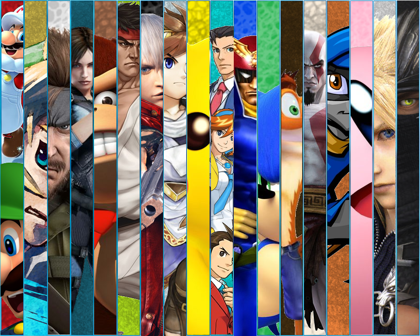 Video Game Character Collage Wallpaper videogames coll...