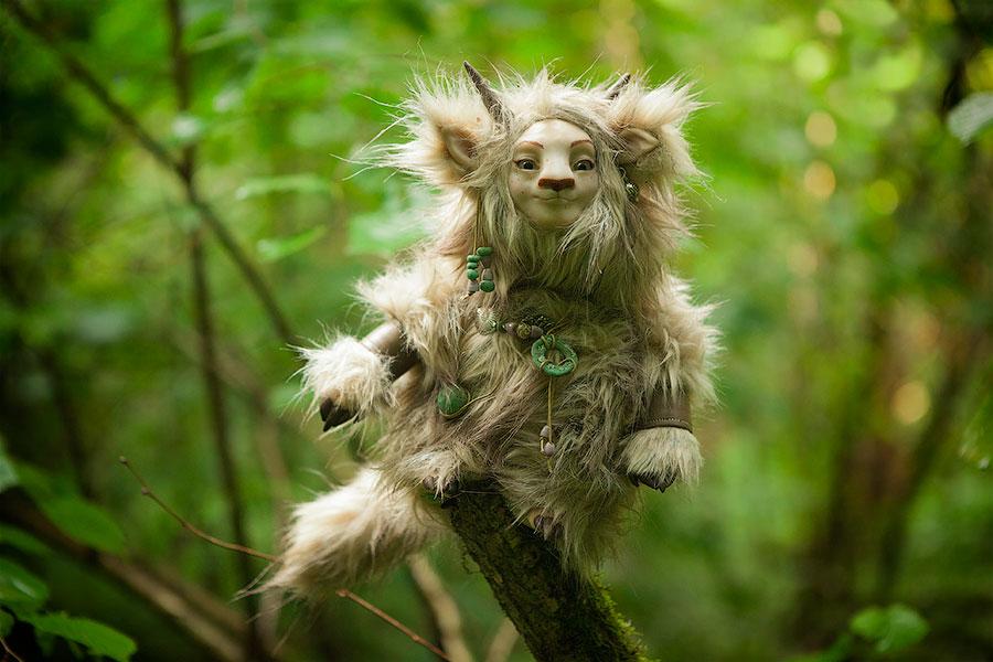 Forest spirit Furrykami Art doll by Furrykami-creatures