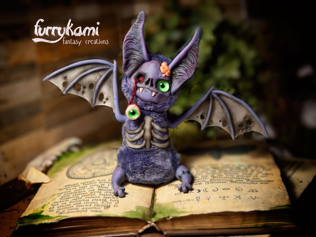 Handmade toy zombie bat