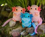 Axolotl art toy