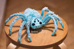 cute spider poseable art toy by Furrykami