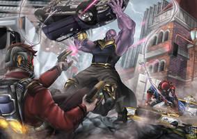 TEAM UP ! - Infinity War FanArt by alanasdasd
