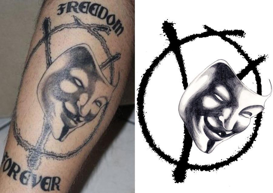 tatoo v for vendetta by lucerev on deviantart. Black Bedroom Furniture Sets. Home Design Ideas