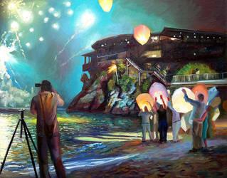 Fireworks over Eden Rock by blind-awakening