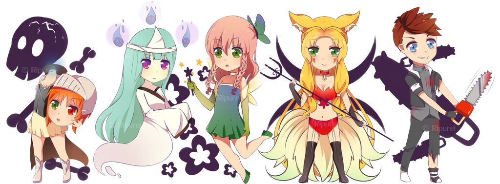 Special Halloween Commissions- 3rd batch by iselART