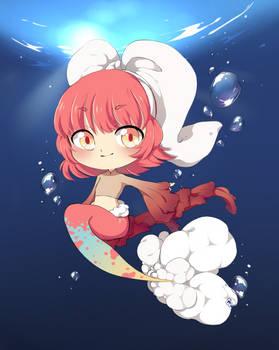 Puffy mermaid tail
