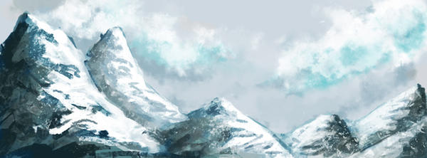 icey mountain by chR95