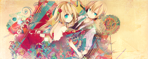 Rin and Len Signature by Myelia