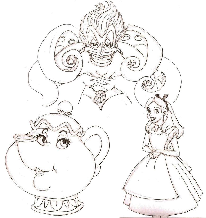 Disney Drawings: Disney Drawing Challenge 6 By Redhead-K On DeviantArt