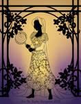 Silhouette Rapunzel