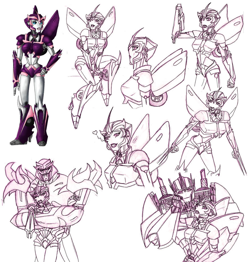 Elita One Sketches by Redhead-K
