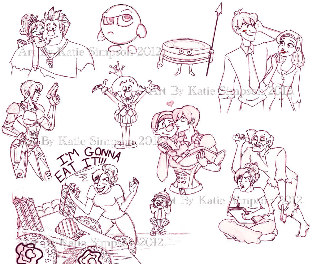 Wreck It Ralph Characters Coloring Pages Viewing Gallery