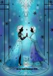 Silhouette Anna and Elsa