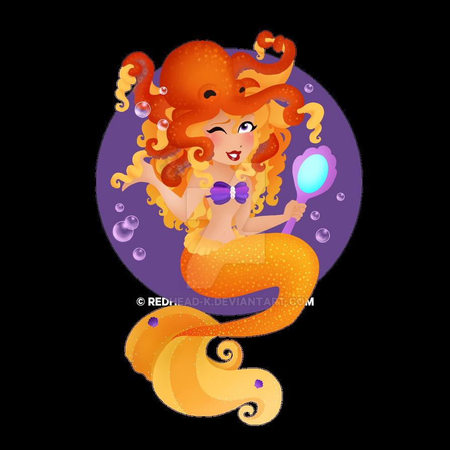 Yellow Mermaid by Redhead-K