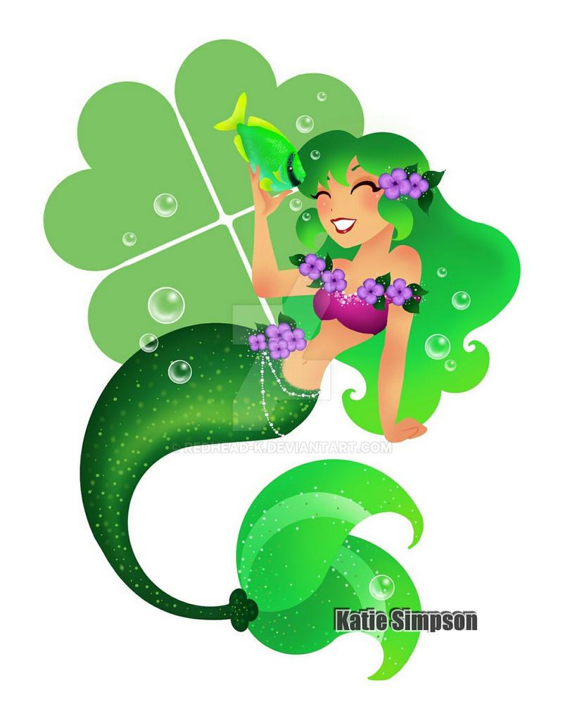 Shamrock Mermaid by Redhead-K