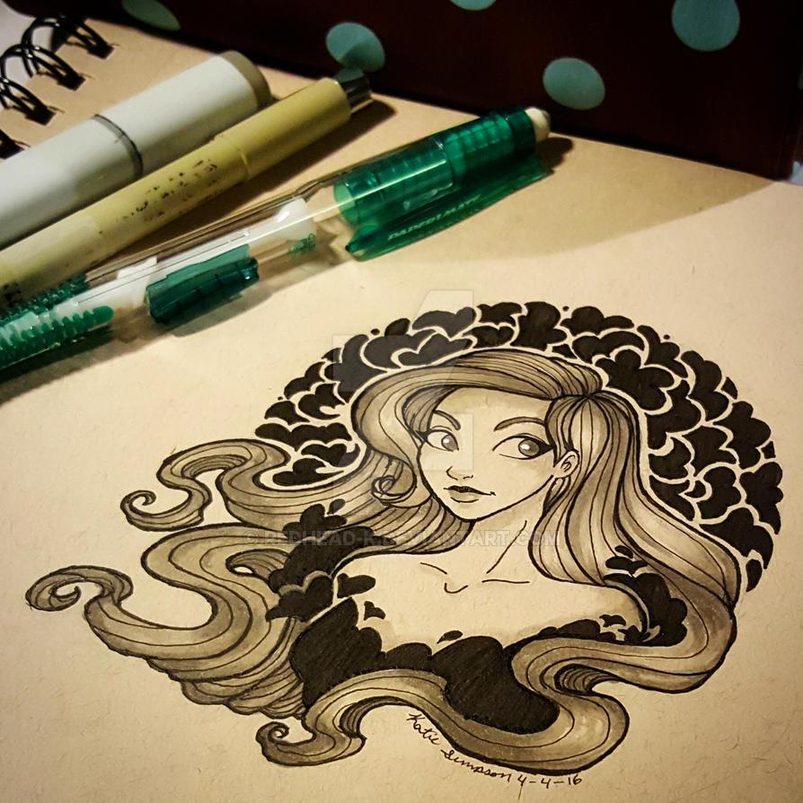 Ink Art by Redhead-K