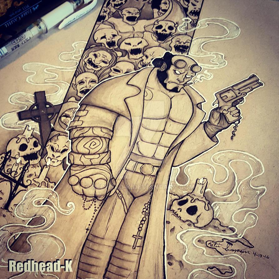 Hellboy Ink by Redhead-K