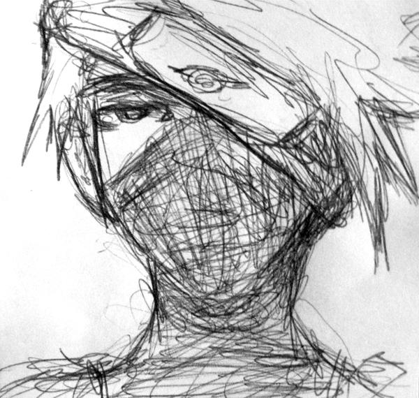 2 minute kakashi drawing by nex415