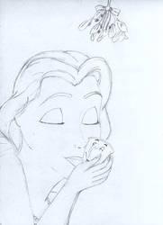 Christmas kiss WIP by Fairyshrub
