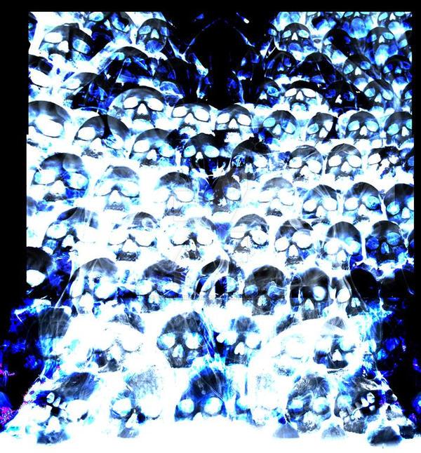 Smoke Blue Wall Decor : Smoke blue wall skull medium by tyger graphics on deviantart