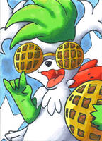 ATC #42: Seeing The World Through Waffle Glasses by Marriland