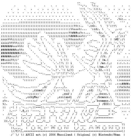 ASCII Dialga by Marriland