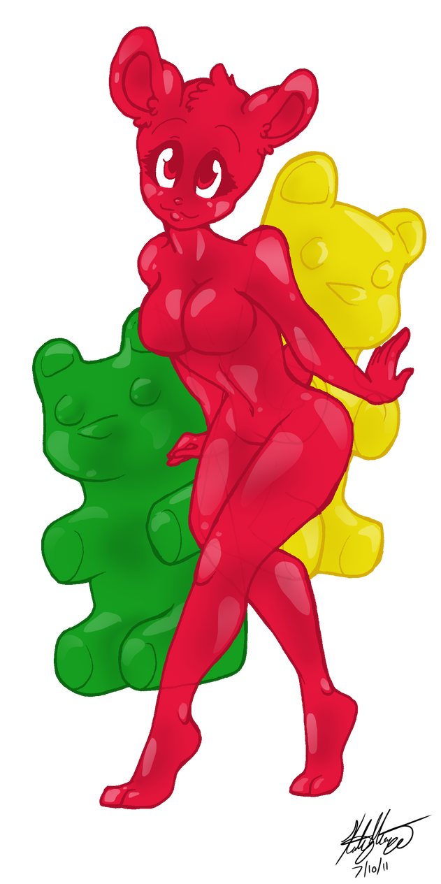 Gummy bear drawing - photo#24