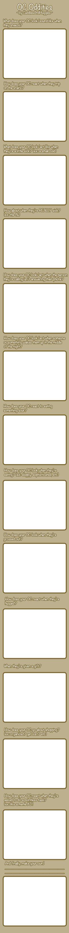 MEME: OC Oddities by CuddlesAndHuggles