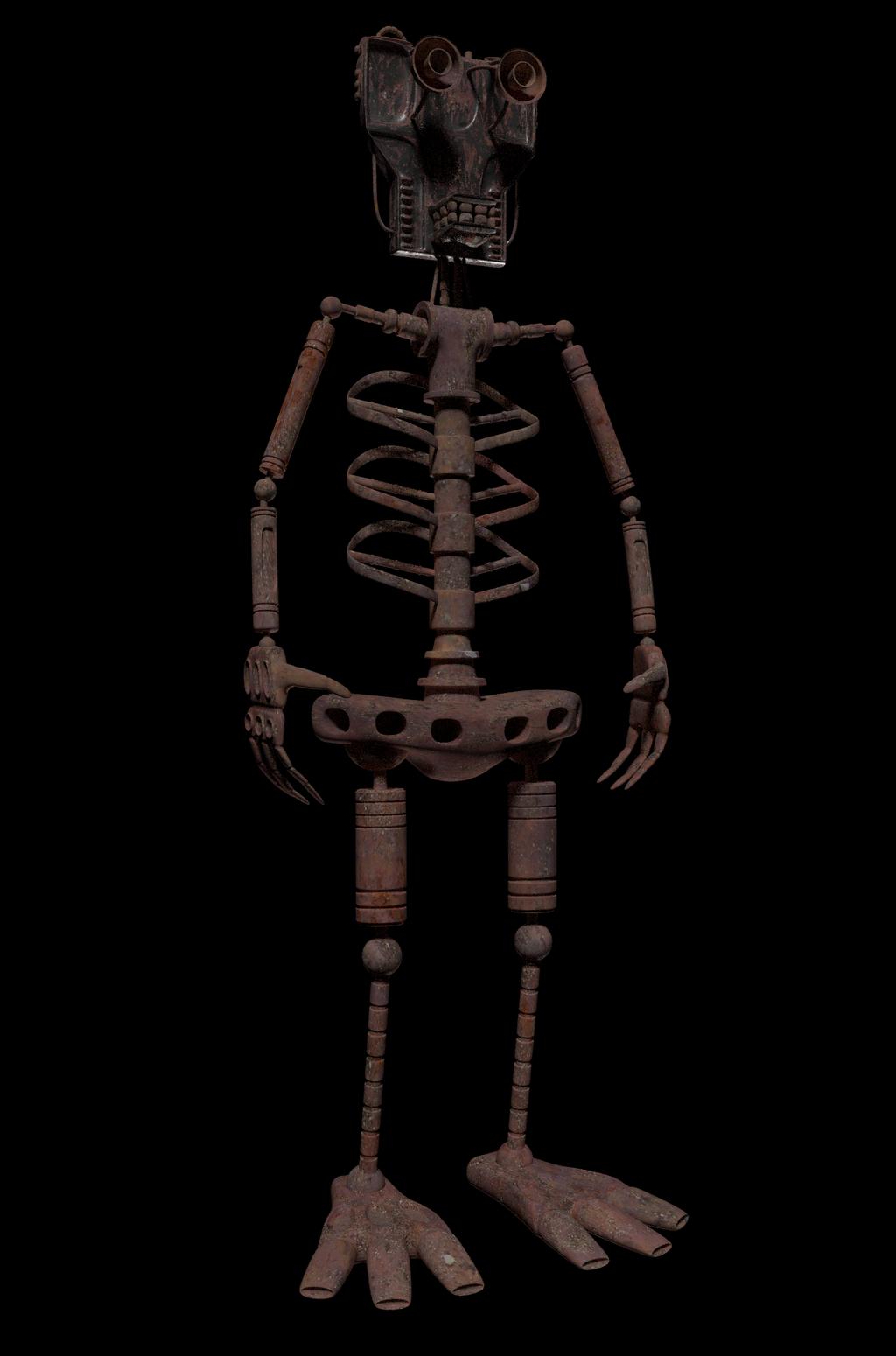 animatronics   Tumblr   Chuck E Cheese Animatronics Endoskeleton