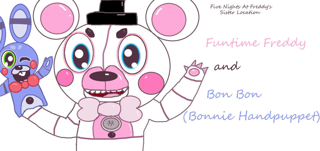 Funtime Freddy And Bonbon By – Dibujos Para Colorear