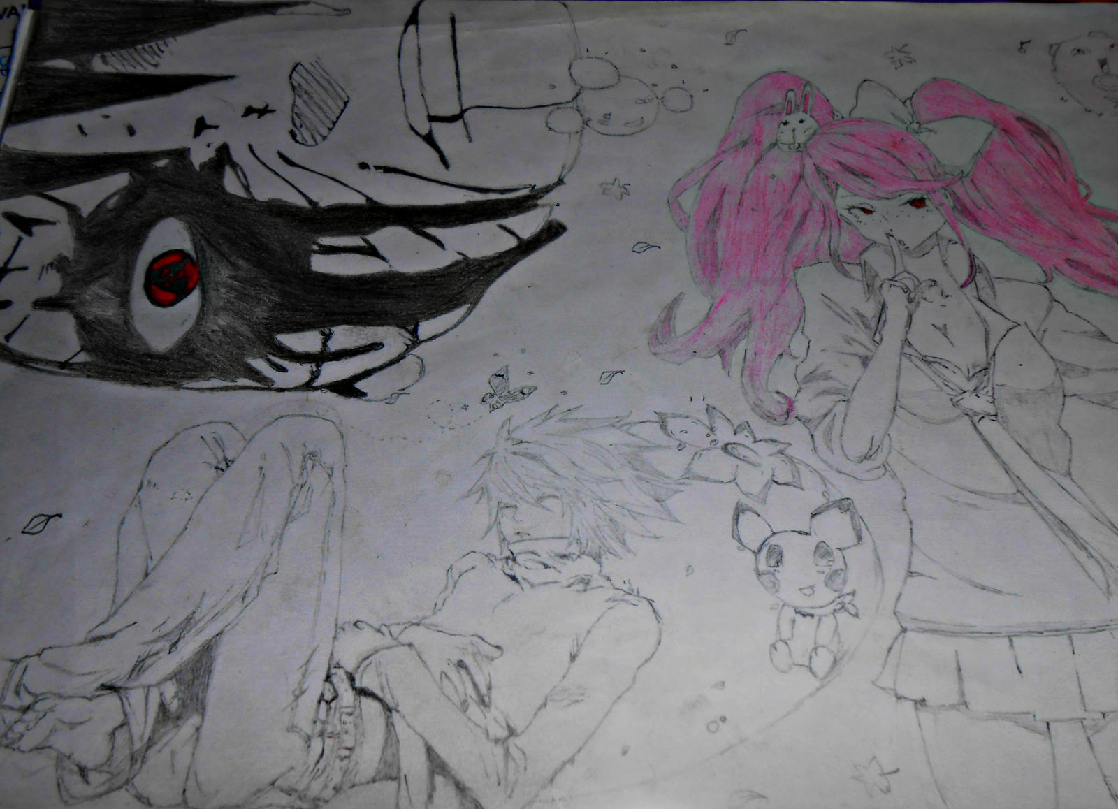 Cross-Over(Drawning) by mogo-chiiiiii