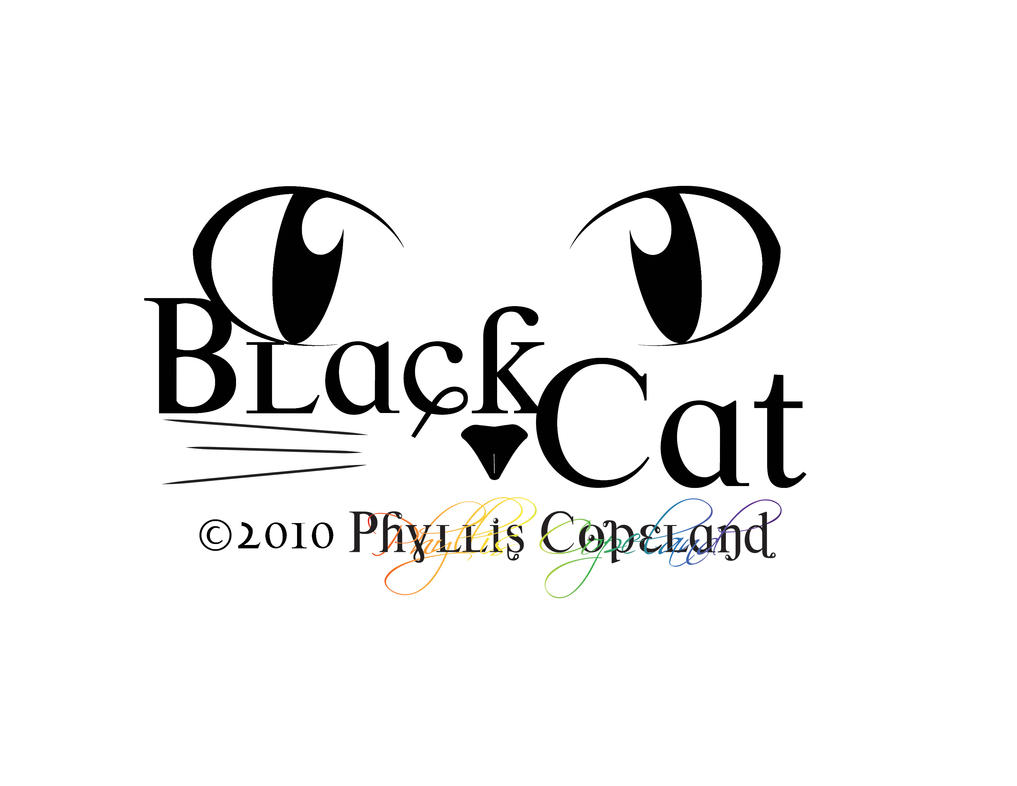 Black Cat Logo Ict Work 85