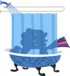 Twilight Sparkle and Pinkie Pie take a shower
