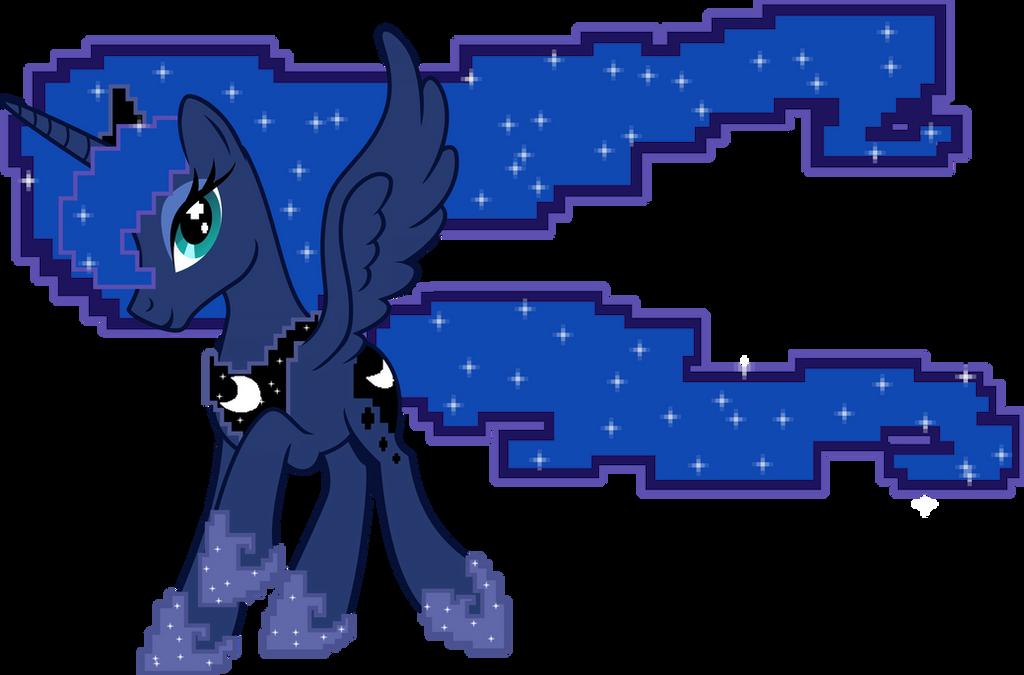 Gamer Princess Luna by UP1TER