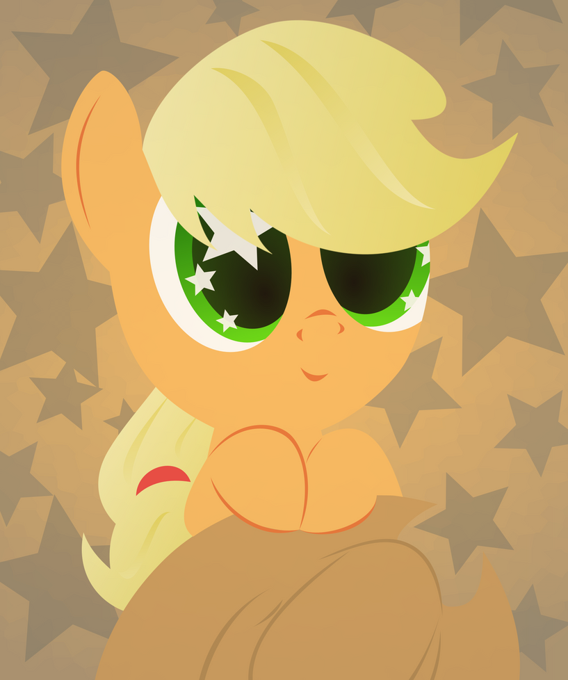 applejack_and_2000_watchers__by_up1ter-d