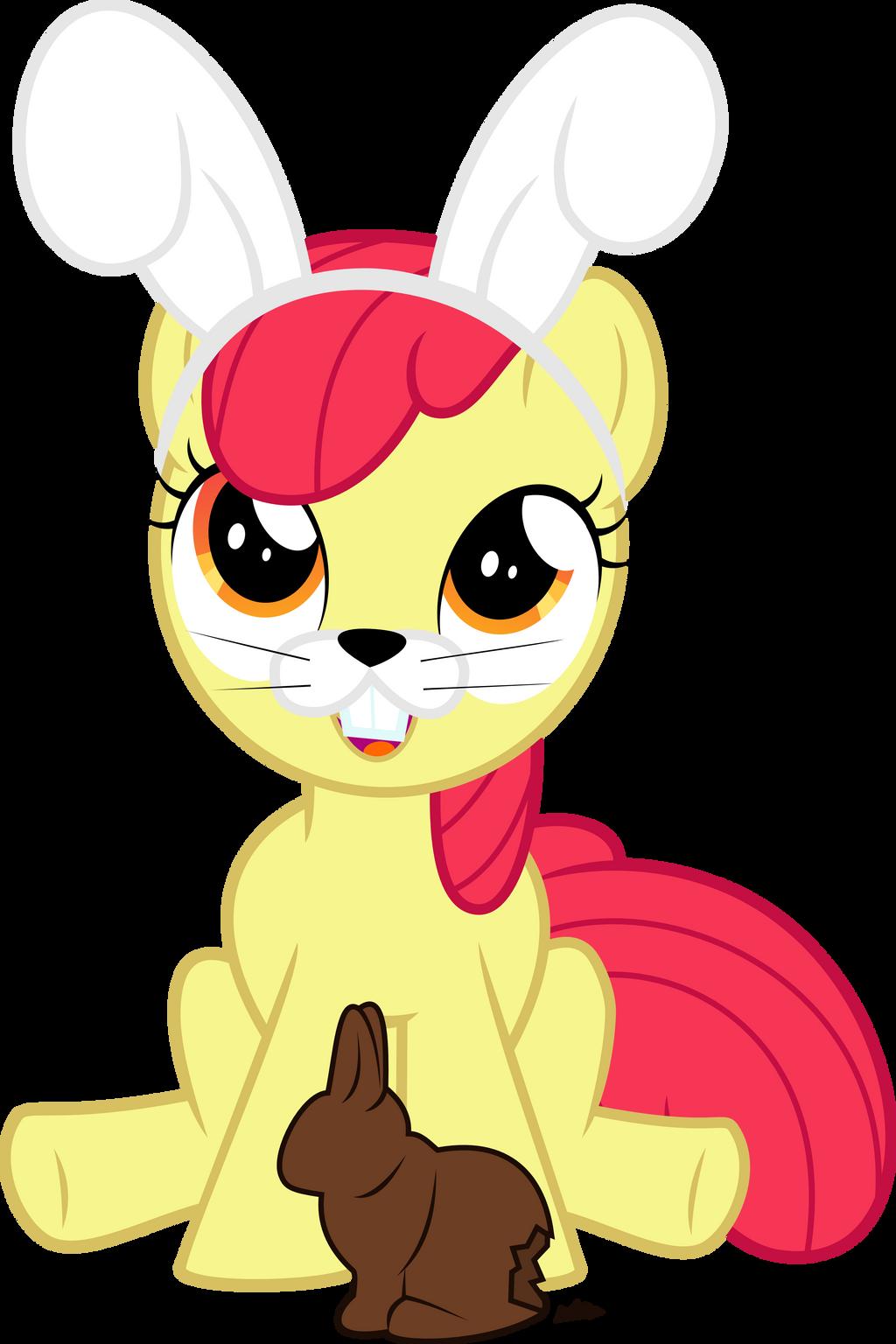 Easter Bunny Applebloom by UP1TER on DeviantArt