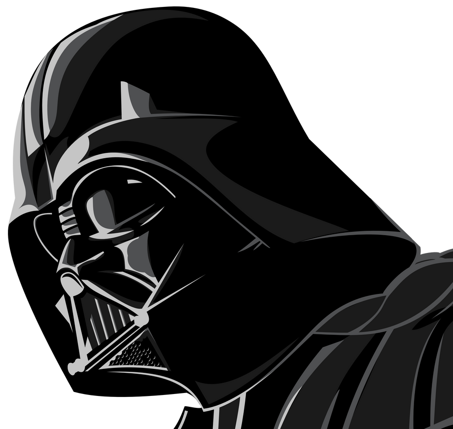 Darth vader by up1ter on deviantart for Darth vader black and white