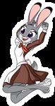 Judy Hopps \(. . )/ by UP1TER