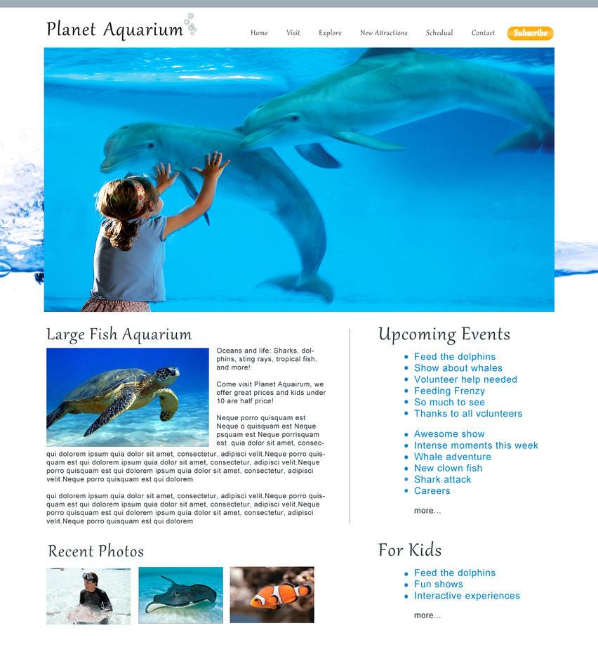 Aquarium website by sheep0989 on deviantart for Site aquarium