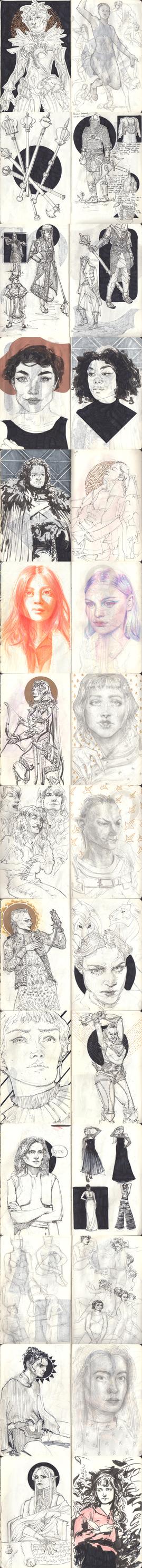 April Sketchdump by lou2209